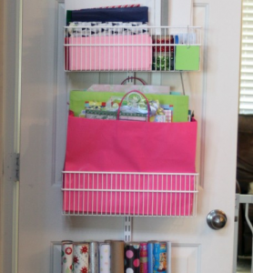 Organize your wrapping supplies!