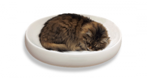 Cat's Contour Ceramic Cat Bed