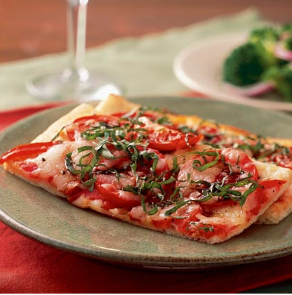Quick Pizza Margherita (Photo Credit: Randy Mayor; Katie Stoddard on MyRecipes.com)