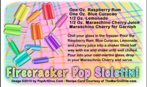 Firecracker Popsicletini Recipe Card from TheMartiniDiva.com