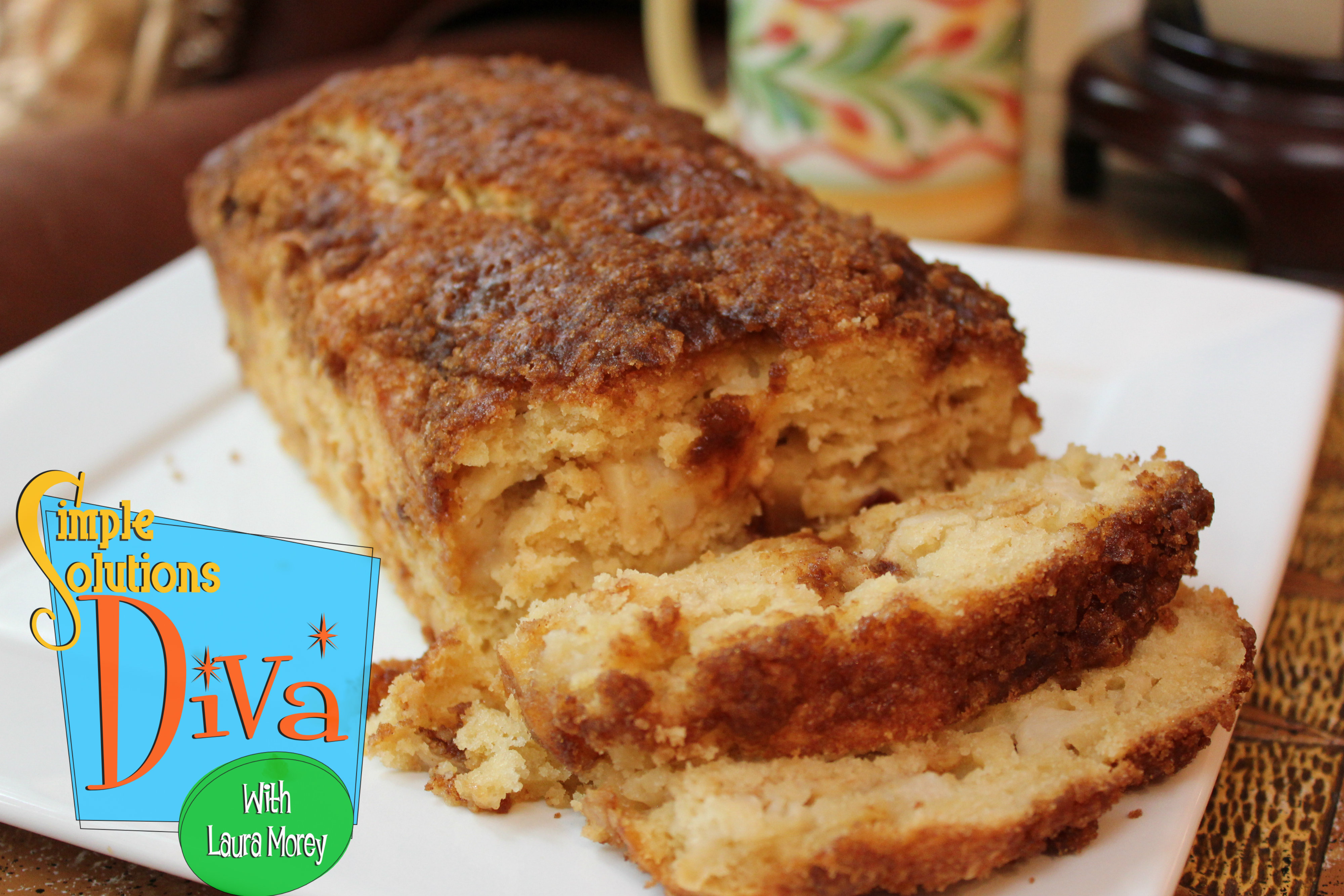 Apple Pie Bread, recipe from SpendWithPennies.com; Photo Credit: Simple Solutions Diva.