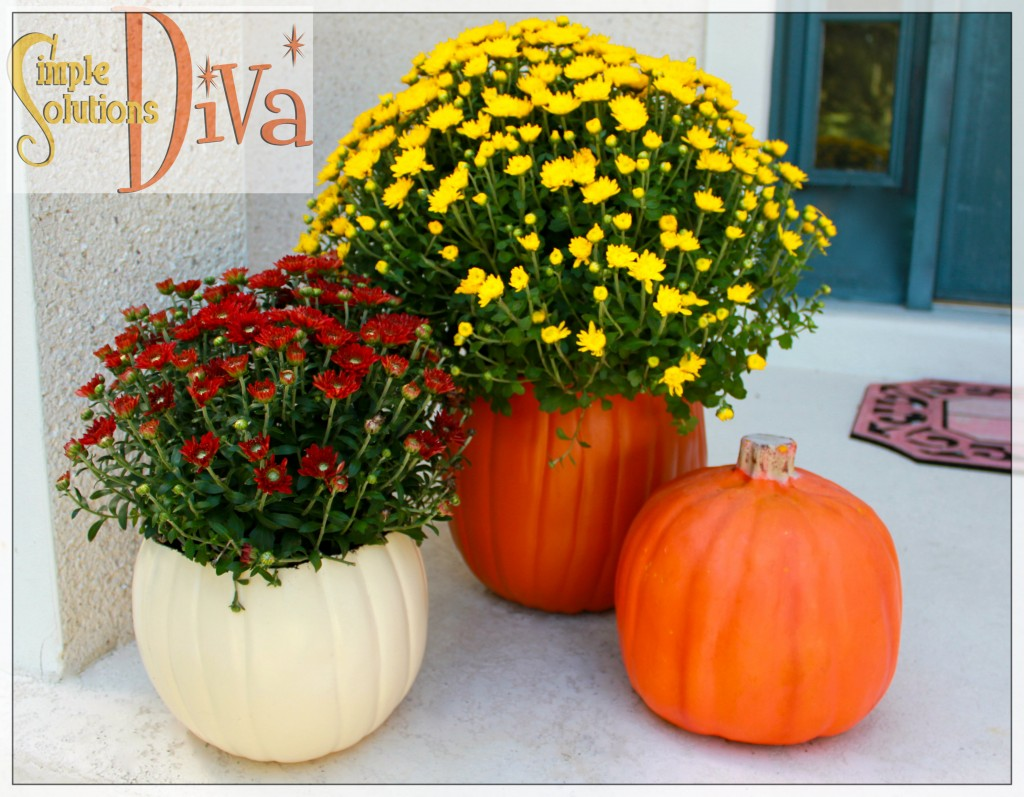 Pumpkin Planters from SimpleSolutionsDiva.com.
