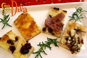 Flatbread Appetizer Four Ways, by SimpleSolutionsDiva.com