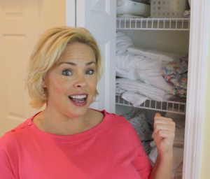 Linen closet a mess? Simple tip to store linens, neatly!