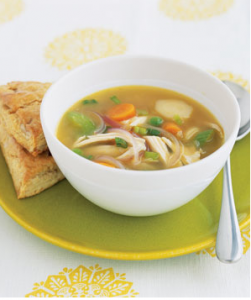 Ginger Chicken Soup With Vegetables, photo from Real Simple Magazine.