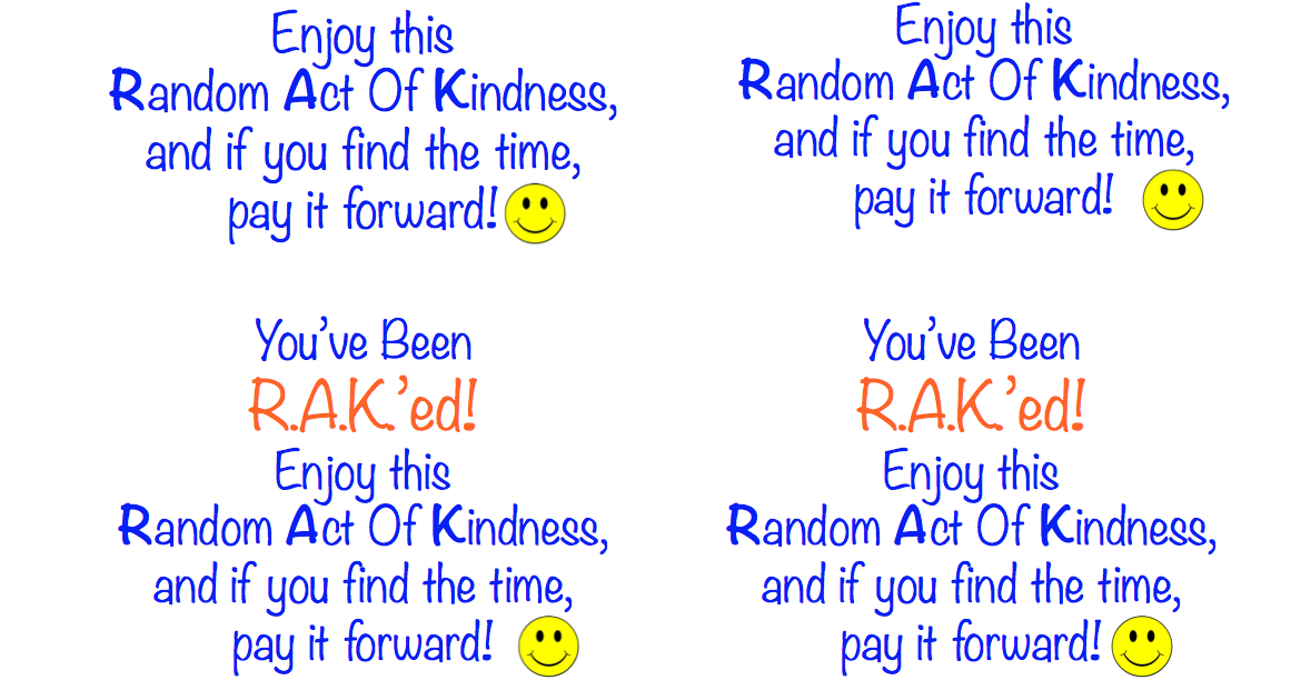 photograph regarding Kindness Cards Printable known as It Is Random Functions Of Kindness 7 days, Feb. 10 16, 2014
