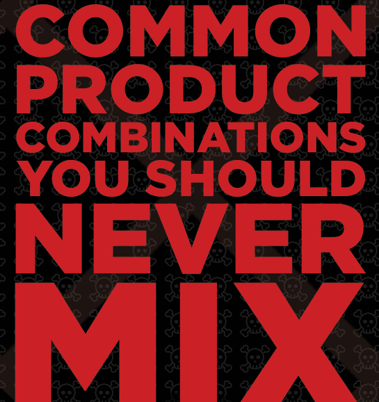 Common Products your should never mix, from BuzzFeed.com