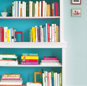 Spring Cleaning Tip: Reorganize your bookshelves (Photo: RealSimple.com)
