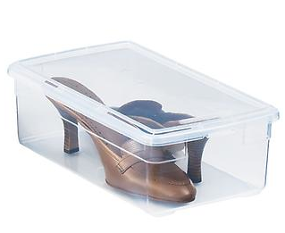 The Container Store Clear Plastic Shoe Box.