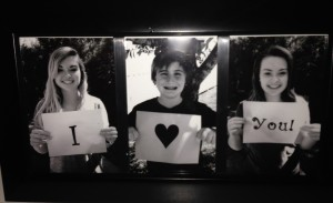 """I Love You"" Photo Frame"