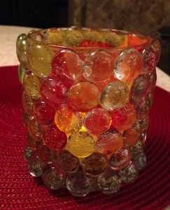 Glass Bead Votive Candle holder