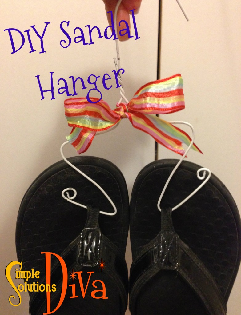 DIY Sandal Hanger from SimpleSolutionsDiva.com!