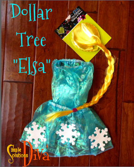 "Dollar Tree ""Elsa"" Costume by SimpleSolutionsDiva.com. Total Cost: $4"