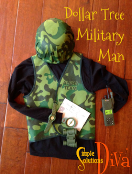 Dollar Tree Military Man by SimpleSolutionsDiva.com