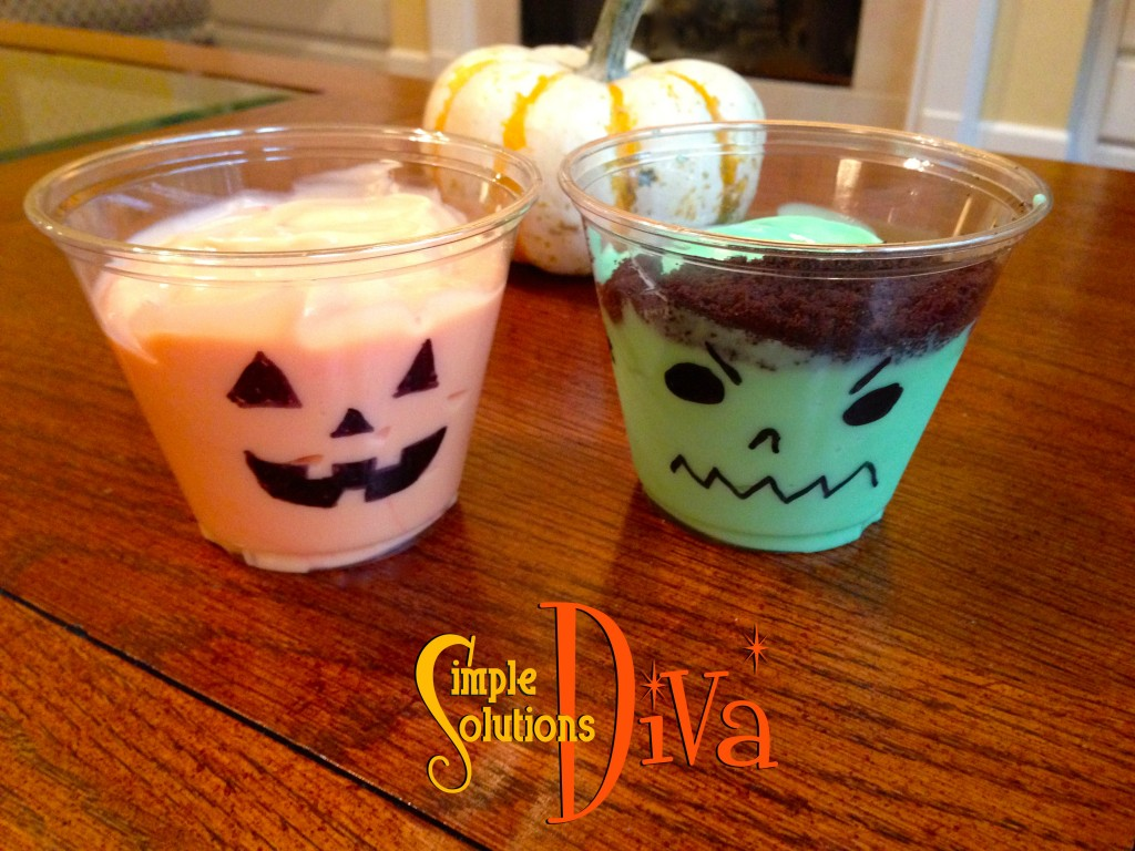 Yogurt Jack-O-Lanterns from SimpleSolutionsDiva.com.