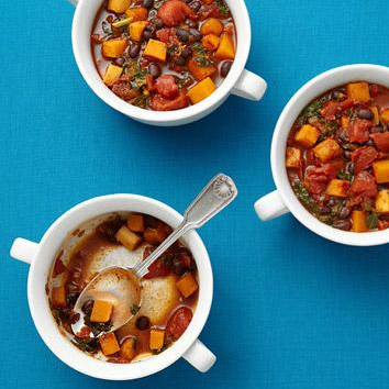 Chipotle Vegetable Chili, photo from FitnessMagazine.com.
