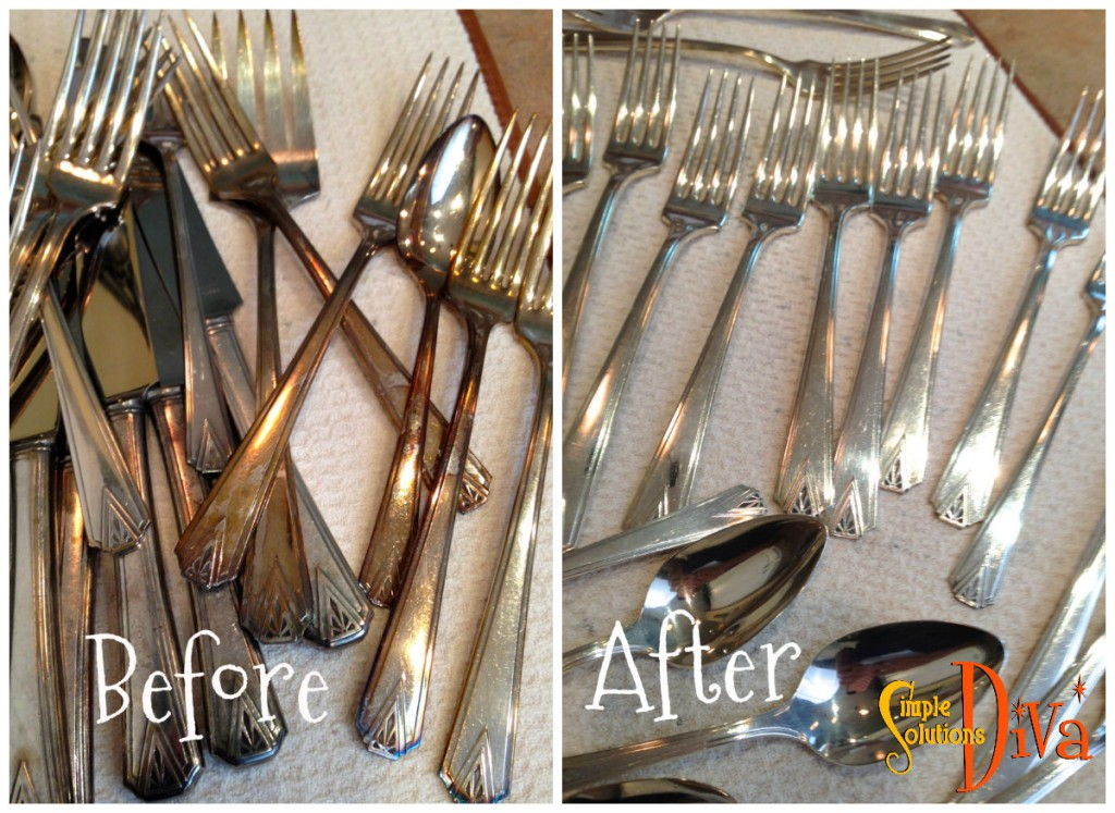 Silverware before after