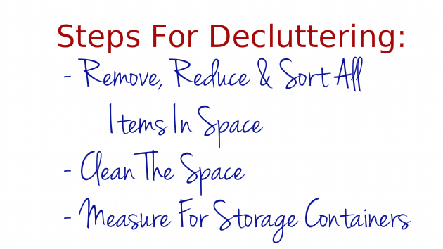 Steps For Decluttering