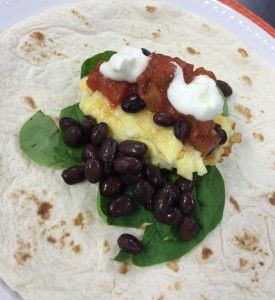 Southwest Breakfast Wrap, from SimpleSolutionsDiva.com.