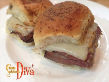 Game Day Roast Beef Sliders from SimpleSolutionsDiva.com.